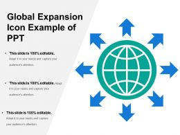 Global Expansion Icon Example Of Ppt