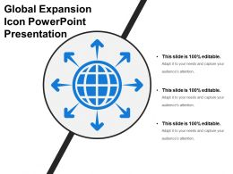 Global Expansion Icon Powerpoint Presentation