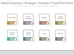 Global Expansion Strategies Template Powerpoint Show