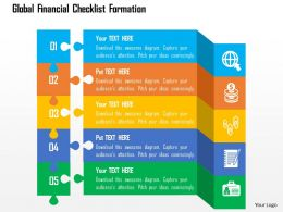 Global Financial Checklist Formation Flat Powerpoint Design