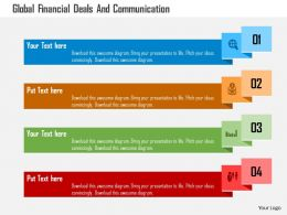 Global Financial Deals And Communication Flat Powerpoint Design