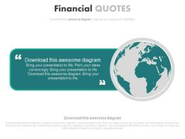 Global Financial Quotes For Business Powerpoint Slides