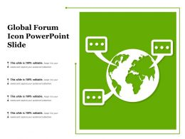 Global Forum Icon Powerpoint Slide