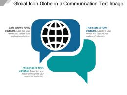 Global Icon Globe In A Communication Text Image