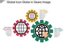 Global Icon Globe In Gears Image