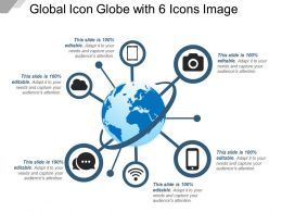 Global Icon Globe With 6 Icons Image