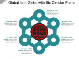 Global Icon Globe With Six Circular Points