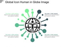 Global Icon Human In Globe Image