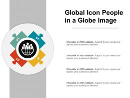 Global Icon People In A Globe Image