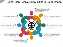 Global Icon People Surrounding A Globe Image