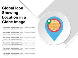 Global Icon Showing Location In A Globe Image