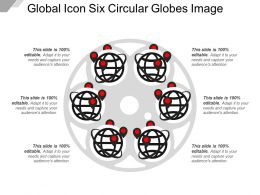 Global Icon Six Circular Globes Image