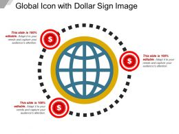Global Icon With Dollar Sign Image