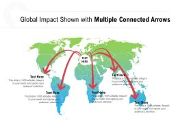 Global Impact Shown With Multiple Connected Arrows