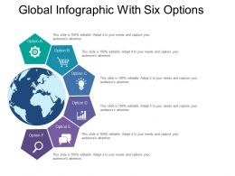 Global Infographic With Six Options