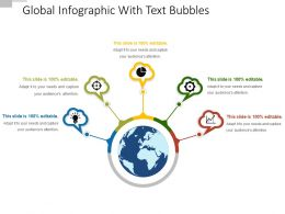 Global Infographic With Text Bubbles