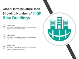Global Infrastructure Icon Showing Number Of High Rise Buildings