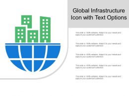 Global Infrastructure Icon With Text Options