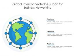 Global Interconnectedness Icon For Business Networking