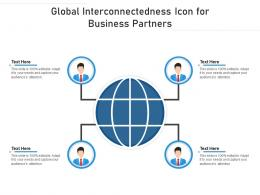 Global Interconnectedness Icon For Business Partners