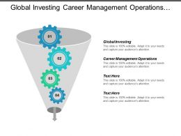 Global Investing Career Management Operations Entrepreneurship Bank Financing Cpb
