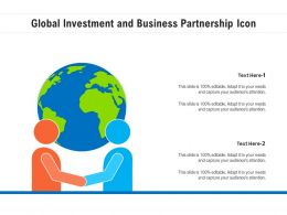 Global Investment And Business Partnership Icon