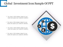 Global Investment Icon Sample Of Ppt