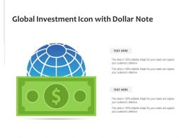 Global Investment Icon With Dollar Note