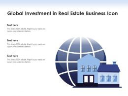 Global Investment In Real Estate Business Icon