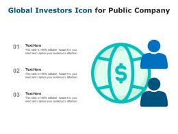 Global Investors Icon For Public Company