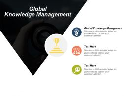Global Knowledge Management Ppt Powerpoint Presentation Gallery Infographics Cpb