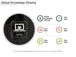 Global Knowledge Sharing Ppt Powerpoint Presentation Gallery Inspiration Cpb