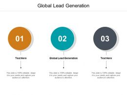 Global Lead Generation Ppt Powerpoint Presentation Outline Show Cpb