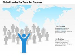 Global Leader For Team For Success Powerpoint Template