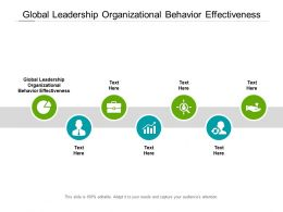 Global Leadership Organizational Behavior Effectiveness Ppt Powerpoint Icon Cpb