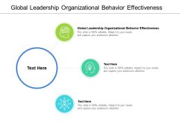 Global Leadership Organizational Behaviour Effectiveness Ppt Powerpoint Show Cpb