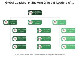 Global Leadership Showing Different Leaders Of Different Countries