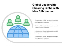 Global Leadership Showing Globe With Men Silhouettes