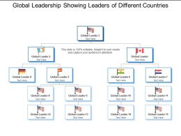 Global Leadership Showing Leaders Of Different Countries