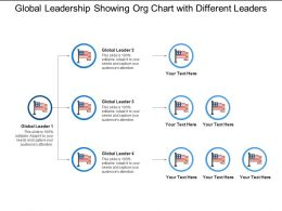 Global Leadership Showing Org Chart With Different Leaders