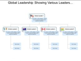 Global Leadership Showing Various Leaders Of Different Countries