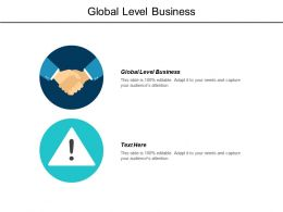Global Level Business Ppt Powerpoint Presentation Infographic Template Graphics Cpb