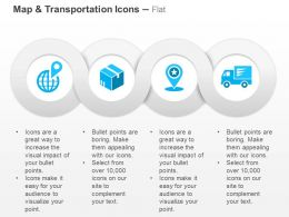 Global Location Goods Delivery Services Ppt Icons Graphics