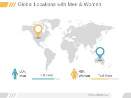 Global Locations With Men And Women Ppt Slides Download