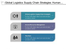 Global Logistics Supply Chain Strategies Human Resources Management Cpb