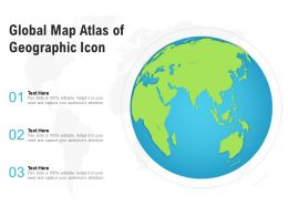 Global Map Atlas Of Geographic Icon
