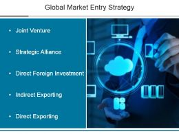 Global Market Entry Strategy Powerpoint Slide Backgrounds