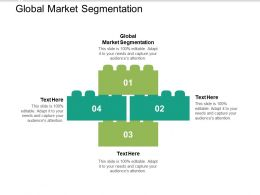 Global Market Segmentation Ppt Powerpoint Presentation Infographic Template Design Cpb