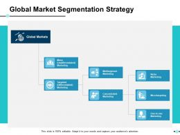 Global Market Segmentation Strategy Ppt Show Demonstration