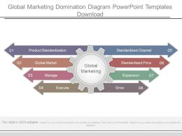 Global Marketing Domination Diagram Powerpoint Templates Download